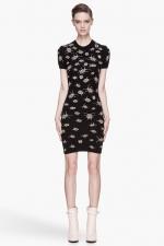 Alexander McQueen bug dress in black at SSENSE