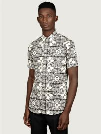 Alexander McQueen stained glass shirt at Oki Ni