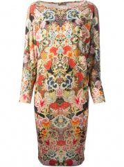 Alexander Mcqueen Floral Embroidered Dress - Smets at Farfetch