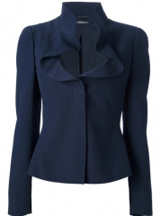 Alexander Mcqueen Ruffle Collar Jacket - Bernard at Farfetch