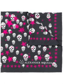 Alexander Mcqueen Skull And Star Print Scarf  185 - Buy AW17 Online - Fast Delivery  Price at Farfetch
