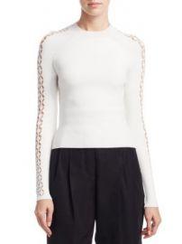 Alexander Wang - FIshnet Stripe Raglan Sleeve Sweater at Saks Fifth Avenue
