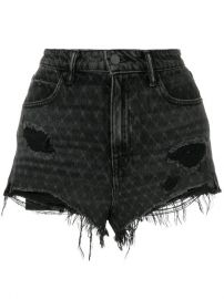 Alexander Wang Bite Net Cut Off Shorts at Farfetch
