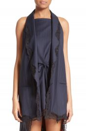 Alexander Wang Lace Trim Pinstripe Vest at Nordstrom