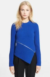 Alexander Wang and39Peel Awayand39 Rib Knit Sweater at Nordstrom