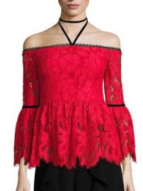 Alexis - Grace Off-The-Shoulder Lace Top at Saks Fifth Avenue