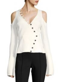Alexis - Noere Button Cold-Shoulder Top at Saks Fifth Avenue