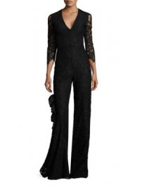 Alexis - Rosario Ruffle Lace Jumpsuit at Saks Fifth Avenue