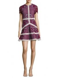 Alexis - Rustikan Embroidered Contrast Lace Mini Dress at Saks Fifth Avenue