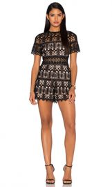 Alexis Alexandria Romper in Black Lace from Revolve com at Revolve
