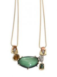 Alexis Bittar - Lucite Stone Bib Buckle-Detail Necklace at Saks Fifth Avenue