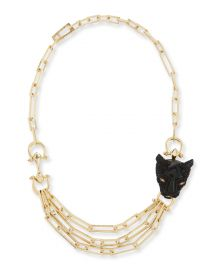 Alexis Bittar Crystal Panther Multi-Strand Necklace at Neiman Marcus