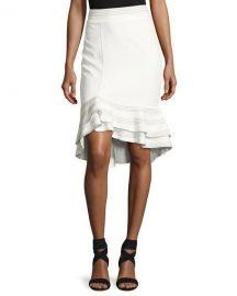 Alexis Cynda Ruffled Peplum Skirt  White at Neiman Marcus