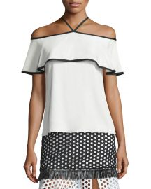 Alexis Isa Top in Vanilla at Neiman Marcus