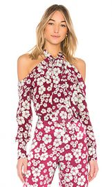 Alexis Paloma Tie Neck Blouse in Floral Print from Revolve com at Revolve
