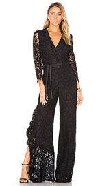 Alexis Rosario Jumpsuit in Black Lace from Revolve com at Revolve