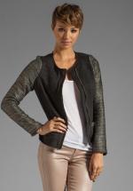 Alex's black tweed jacket at Revolve Clothing at Revolve
