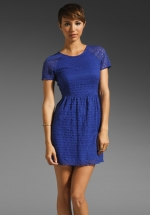 Alexs blue Free People dress at Revolve at Revolve