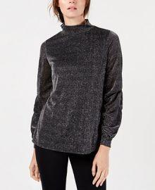 Alfani Mock-Neck Drape-Sleeve Metallic Top  Created for Macy s  Women -  Tops - Macy s at Macys