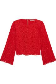Alice   Olivia   Pasha corded lace top at Net A Porter