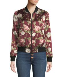 84a6ddc458e9 Alice Olivia Lonnie Reversible Silk Bomber Jacket at Neiman Marcus