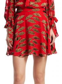 Alice + Olivia x Donald Blaise Printed Skater Skirt at Saks Fifth Avenue