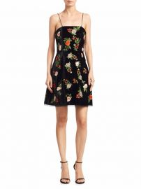 Alice Olivia Launa Embroidered Sleeveless Dress at Saks Fifth Avenue