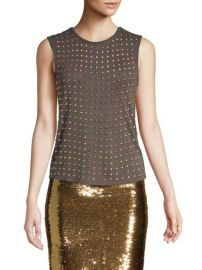 Alice and Olivia Cicely Studded Tank at Saks Fifth Avenue