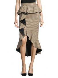 Alice   Olivia - Alessandra Peplum Ruffle Pencil Skirt at Saks Fifth Avenue