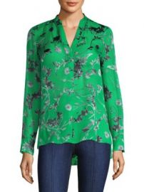 Alice   Olivia - Amos Floral Print Silk Tunic at Saks Fifth Avenue