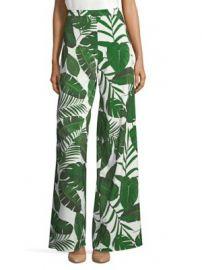 Alice   Olivia - Athena Leaf Print Wide Leg Pants at Saks Fifth Avenue