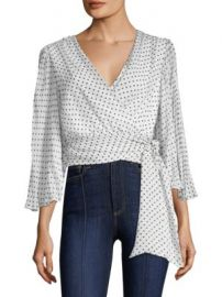 Alice   Olivia - Bray Wrap Top at Saks Fifth Avenue