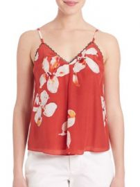 Alice   Olivia - Carlene Inverted Pleat Tank Top at Saks Off 5th