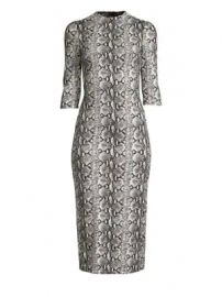 Alice   Olivia - Delora Fitted Mockneck Dress at Saks Fifth Avenue