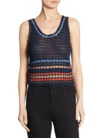 Alice   Olivia - Dorian Ribbon Cropped Tank Top at Saks Fifth Avenue
