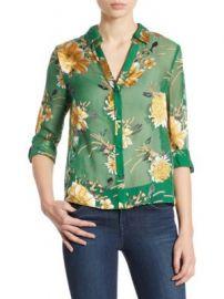 Alice   Olivia - Eloise Devor  Shirt at Saks Fifth Avenue