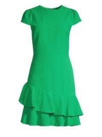 Alice   Olivia - Fable Asymmetric Ruffle Short-Sleeve Dress at Saks Fifth Avenue