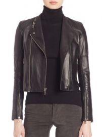 Alice   Olivia - Gamma Leather Moto Jacket at Saks Fifth Avenue