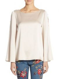 Alice   Olivia - Genia Bell Sleeve Top at Saks Fifth Avenue
