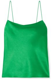 Alice   Olivia   Harmon satin-crepe camisole at Net A Porter