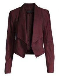 Alice   Olivia - Harvey Shawl Collar Suede Jacket at Saks Fifth Avenue