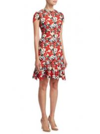 Alice   Olivia - Imani Cap-Sleeve Dress at Saks Fifth Avenue