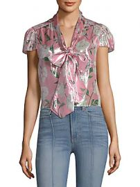 969f4208952f1f WornOnTV: Abby's pink metallic floral blouse on The Young and the ...