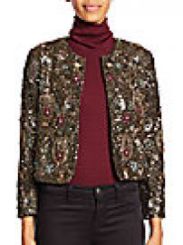 Alice   Olivia - Kidman Embellished Cropped Jacket at Saks Off 5th