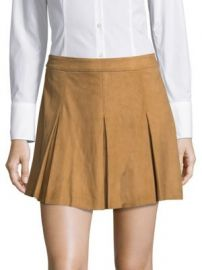Alice   Olivia - Leather Suede Skirt at Saks Off 5th