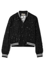 Alice   Olivia   Lonnie embellished silk-chiffon bomber jacket at Net A Porter