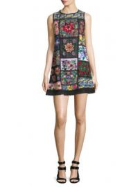 Alice   Olivia - Marcelina Embroidered Tunic Dress at Saks Fifth Avenue