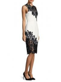 Alice   Olivia - Margy Lace-Trimmed Dress at Saks Fifth Avenue