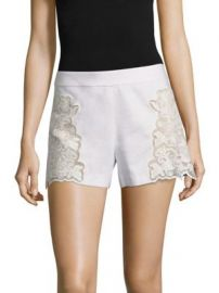 Alice   Olivia - Marisa Embroidered Shorts at Saks Fifth Avenue