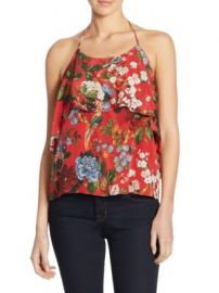 Alice   Olivia - Marybeth Ruffle Silk Top at Saks Off 5th